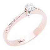 Кольцо из красного золота с бриллиантом Взаимная любовь