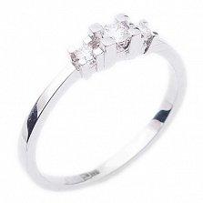 Золотое кольцо с бриллиантами Слова любви