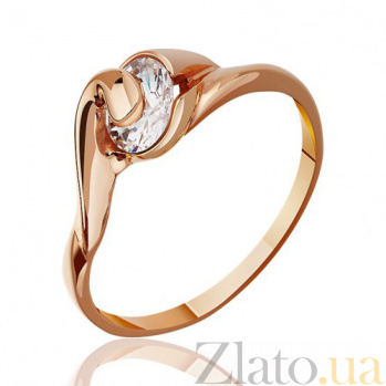Золотое кольцо с цирконием Августина EDM--КД052