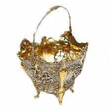 Серебряная конфетница с позолотой Ампир