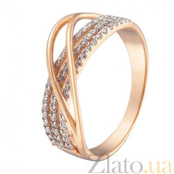 Кольцо в красном золоте Патриция с фианитами 000023291