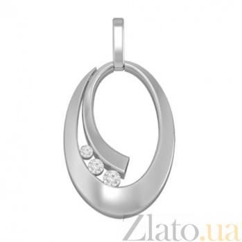 Золотой подвес с бриллиантами Августа KBL--П245/бел/брил