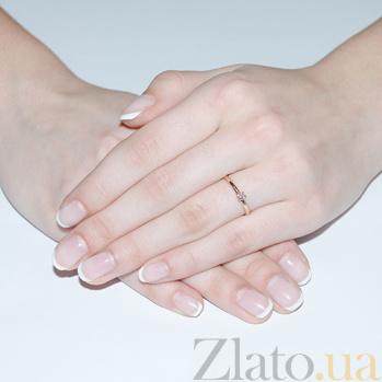 Золотое кольцо в красном цвете с бриллиантом Биргит R0693к