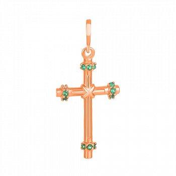 Серебряный крестик с фианитами Лючия 000034081
