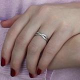 Золотое кольцо с кристаллами циркония Кароль