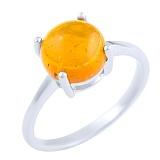Кольцо из серебра Хельга с янтарем