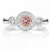 Кольцо Argile из белого золота с розовыми сапфирами и бриллиантами