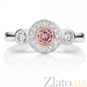 Кольцо Argile из белого золота с розовыми сапфирами и бриллиантами R-cjAr-W-1s-14d