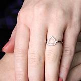 Серебряное кольцо Mon Amour с фианитами