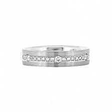 Золотое кольцо с бриллиантами Видит Бог