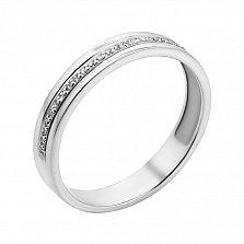 Кольцо из белого золота Мир любви с бриллиантами