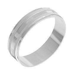 Серебряное обручальное кольцо 000039515