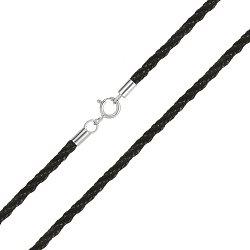 Полиуретановый шнурок с серебром, 3,5 мм 000051833