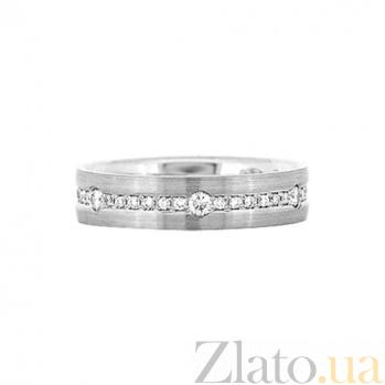 Золотое кольцо с бриллиантами Видит Бог 000029835