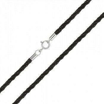 Поліуретановий шнурок зі сріблом, 3,5 мм 000051833