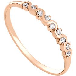 Золотое кольцо с цирконием Делисия