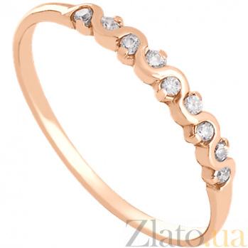 Золотое кольцо с цирконием Делисия 000024360