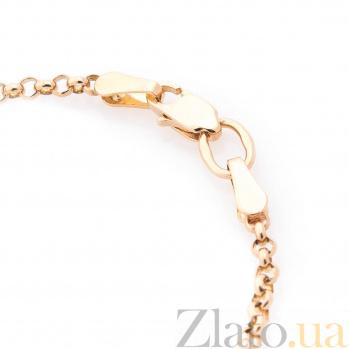 Золотой браслет с цветной эмалью Мишка и дельфин ONX--б00655