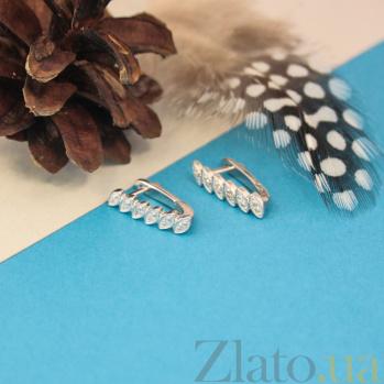 Серебряные серьги Тришна с бриллиантами ZMX--ED-5553-Ag_K
