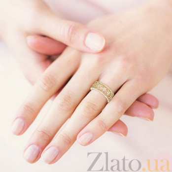 Кольцо из желтого золота Восторг: Нектар Жизни с бриллиантами 5224