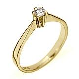 Кольцо из желтого золота с бриллиантом Признание