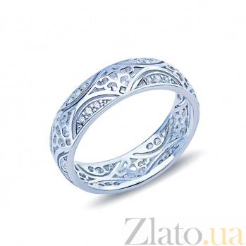 Серебряное кольцо с узорами Витраж AQA--10208