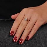 Золотое кольцо с жемчугом и фианитами Жозефина