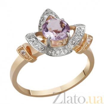 Золотое кольцо с аметистом Фиона AUR--31770 05