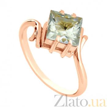 Золотое кольцо с зеленым аметистом Ирэна VLN--112-418-5