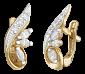 Позолоченные серьги из серебра с фианитами Джасвиндер SLX--С3Ф/019