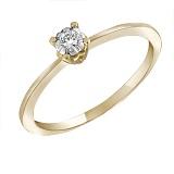Золотое кольцо Поэма с бриллиантом