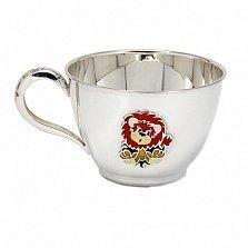 Серебряная чашка Львенок с эмалью