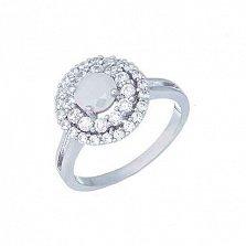 Серебряное кольцо с цирконом Зоя
