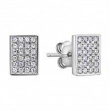 Серебряные серьги с фианитами 000132568