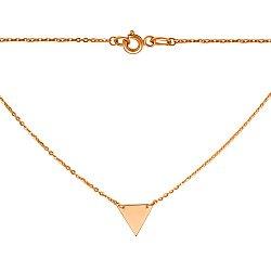 Золотое геометрическое колье Перевернутый треугольник 000057992