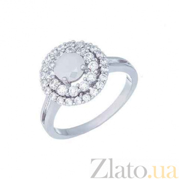 Серебряное кольцо с цирконом Зоя AQA--RJ2846-R