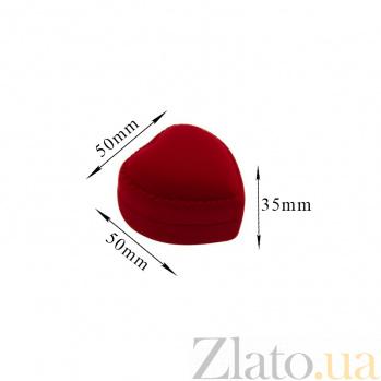 Бархатный футляр Сердце в ассортименте 000007437
