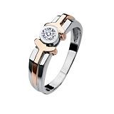 Мужское кольцо из золота с бриллиантом Амон-Ра