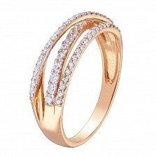 Золотое кольцо Шерон с фианитами