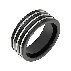 Кольцо из керамики со вставками белого золота Риск 000051982