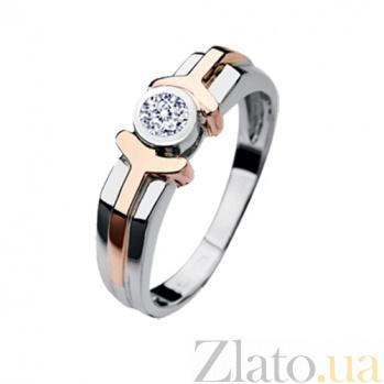 Мужское кольцо из золота с бриллиантом Амон-Ра KBL--К1437/комб/брил