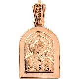 Золотая ладанка Божья матерь с сыном