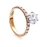 Золотое кольцо с цирконием Моя Единственная