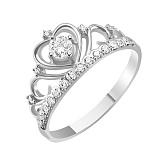 Золотое кольцо с бриллиантами Каприз королевы