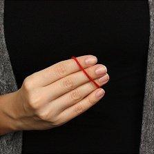 Тканевый крученый браслет Оберег с серебряной застежкой