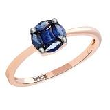 Золотое кольцо с сапфирами София