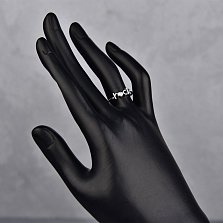 Серебряное кольцо с бриллиантом Rock