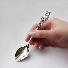 Серебряная чайная ложка Сова