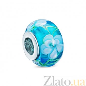 Шарм голубой с цветком AQA--JP060