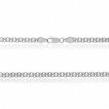 Серебряная цепочка Вэйд с родированием, 50 см